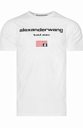 "Оверсайз футболка Alexander Wang ""New York"" - White"