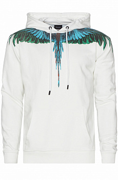 "Оверсайз худи Marcelo Burlon ""Wings"" - White"