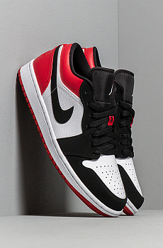 Кроссовки AJ1 Low - Black / White / Red