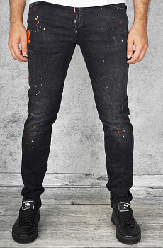 "Мужские джинсы Dsquared2 ""Paint Splatter"" - Black"