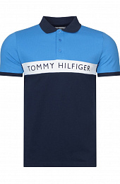 Мужское поло Tommy Hilfiger - Navy / Blue / White