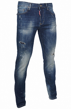 "Мужские джинсы Dsquared2 ""Paint Splatter"" - Blue"